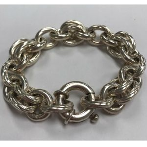 Jewelry - GORGEOUS Sterling Silver Chain Toggle Bracelet!